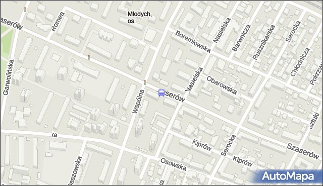 Przystanek Osiedle Młodych 02. ZTM Warszawa - Warszawa (id 211002) na mapie Targeo