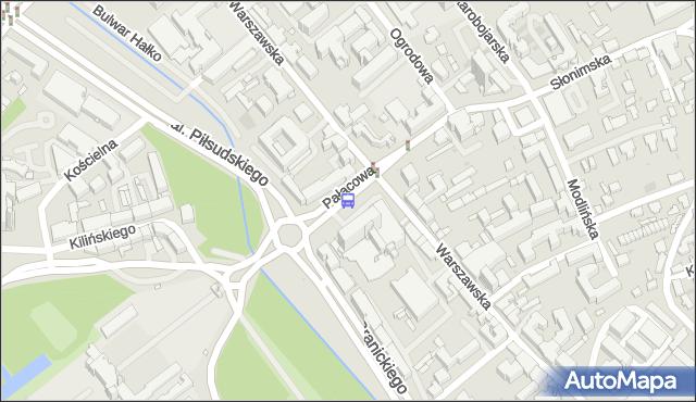 Przystanek PAŁACOWA/HOTEL. BKM - Białystok (id 281) na mapie Targeo