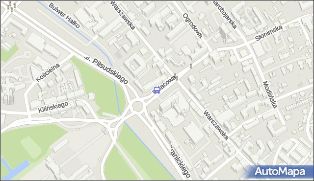 Przystanek PAŁACOWA/HOTEL. BKM - Białystok (id 282) na mapie Targeo