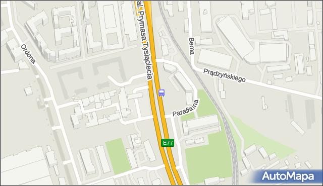 Przystanek Parafialna 02. ZTM Warszawa - Warszawa (id 509602) na mapie Targeo