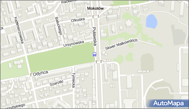 Przystanek Park Dreszera 01. ZTM Warszawa - Warszawa (id 300501) na mapie Targeo