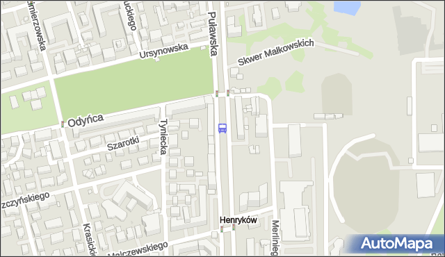 Przystanek Park Dreszera 05. ZTM Warszawa - Warszawa (id 300505) na mapie Targeo