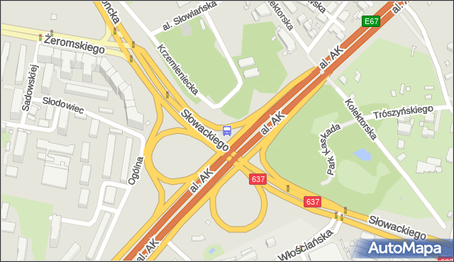 Przystanek Park Kaskada 04. ZTM Warszawa - Warszawa (id 607504) na mapie Targeo