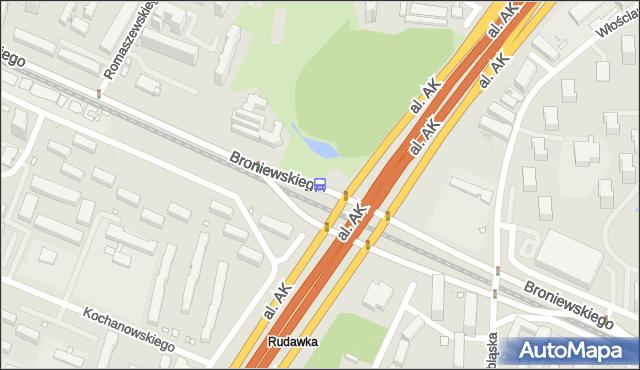 Przystanek Park Olszyna 02. ZTM Warszawa - Warszawa (id 604202) na mapie Targeo