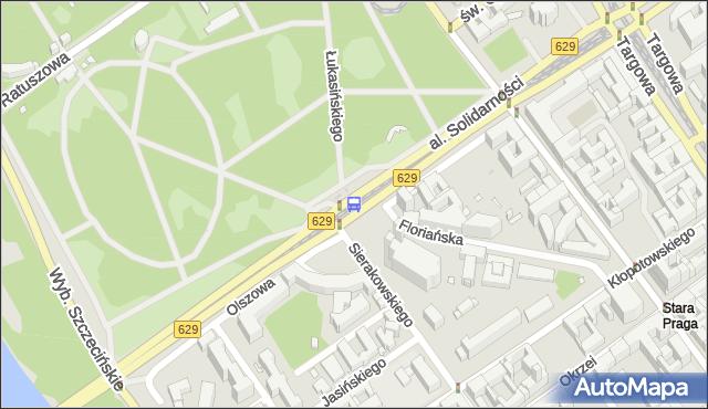 Przystanek Park Praski 01. ZTM Warszawa - Warszawa (id 116301) na mapie Targeo