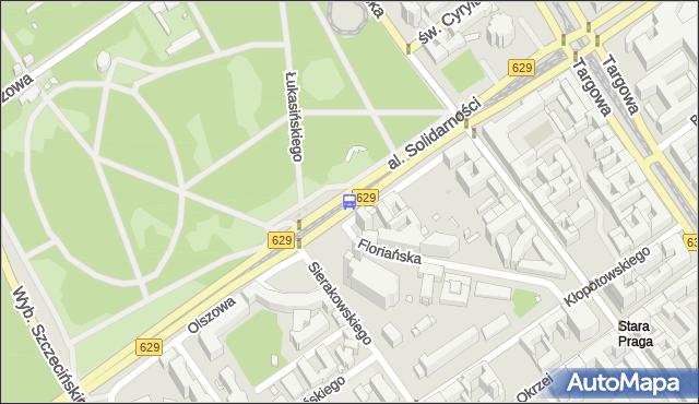 Przystanek Park Praski 02. ZTM Warszawa - Warszawa (id 116302) na mapie Targeo