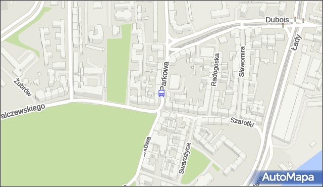 Przystanek Parkowa 11. ZDiTM Szczecin - Szczecin (id 13211) na mapie Targeo