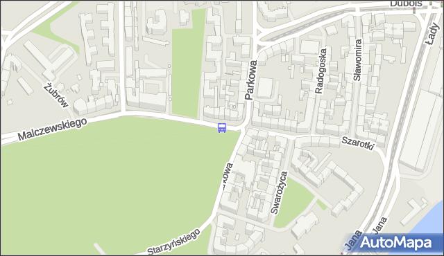 Przystanek Parkowa 21. ZDiTM Szczecin - Szczecin (id 13221) na mapie Targeo