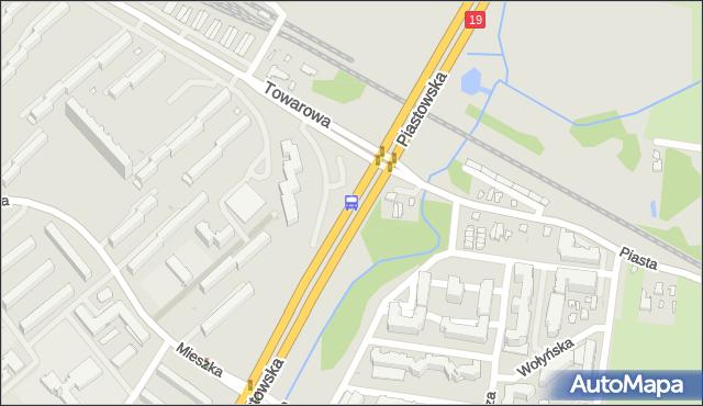 Przystanek PIASTOWSKA/OS.PIASTA. BKM - Białystok (id 291) na mapie Targeo