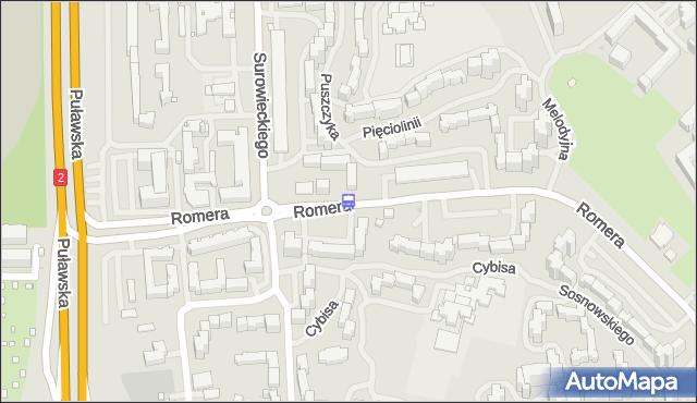 Przystanek Pięciolinii 02. ZTM Warszawa - Warszawa (id 313002) na mapie Targeo
