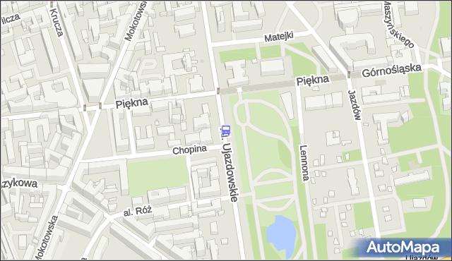 Przystanek Piękna 02. ZTM Warszawa - Warszawa (id 703802) na mapie Targeo