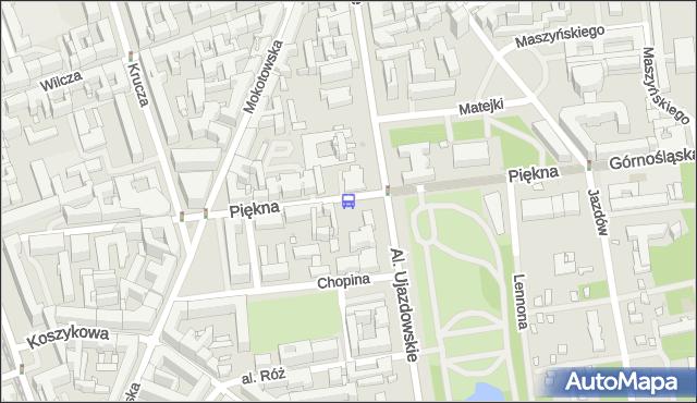 Przystanek Piękna 03. ZTM Warszawa - Warszawa (id 703803) na mapie Targeo