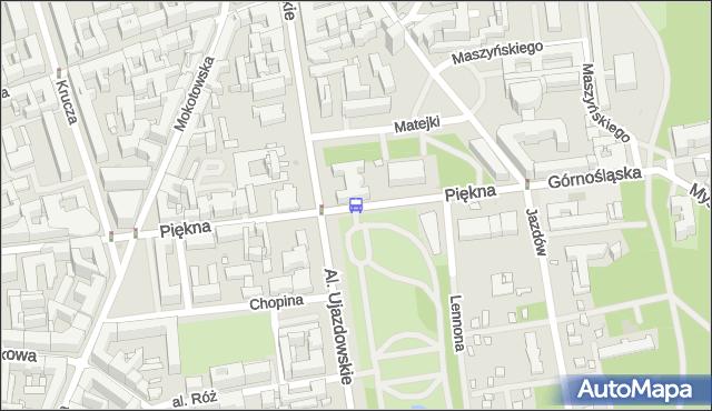 Przystanek Piękna 04. ZTM Warszawa - Warszawa (id 703804) na mapie Targeo
