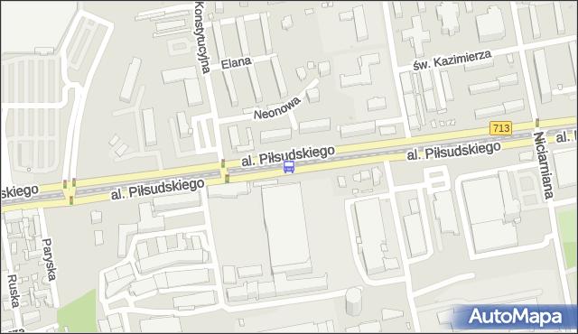 Przystanek Piłsudskiego - Konstytucyjna (Wi-Ma). MPKLodz - Łódź (id 743) na mapie Targeo