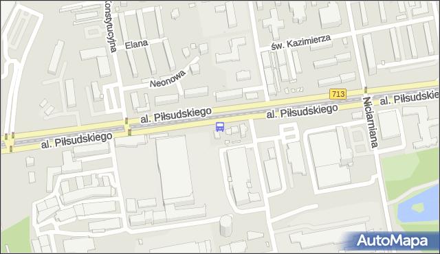 Przystanek Piłsudskiego - Konstytucyjna (Wi-Ma). MPKLodz - Łódź (id 744) na mapie Targeo
