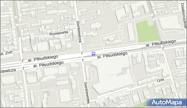 Przystanek Piłsudskiego - Sienkiewicza. MPKLodz - Łódź (id 763) na mapie Targeo