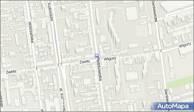 Przystanek Piotrkowska - Żwirki. MPKLodz - Łódź (id 401) na mapie Targeo