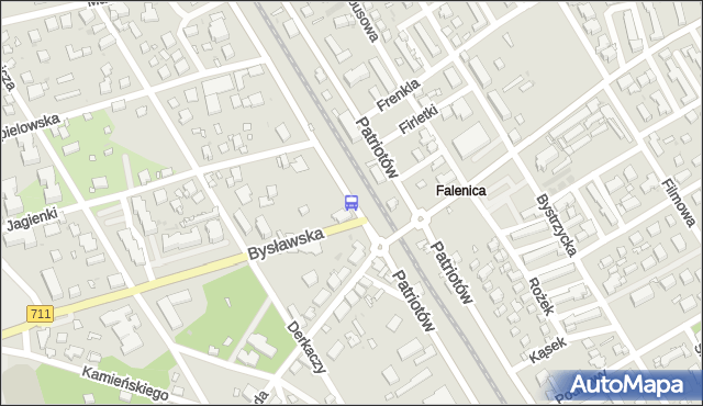 Przystanek PKP Falenica 01. ZTM Warszawa - Warszawa (id 204801) na mapie Targeo