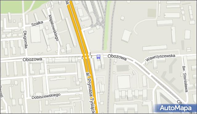 Przystanek PKP Koło 01. ZTM Warszawa - Warszawa (id 506901) na mapie Targeo