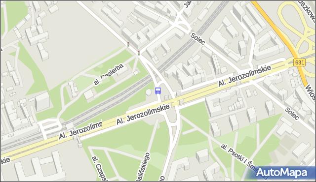 Przystanek PKP Powiśle 03. ZTM Warszawa - Warszawa (id 706803) na mapie Targeo