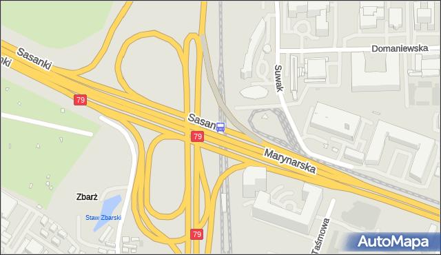Przystanek PKP Służewiec 02. ZTM Warszawa - Warszawa (id 325402) na mapie Targeo