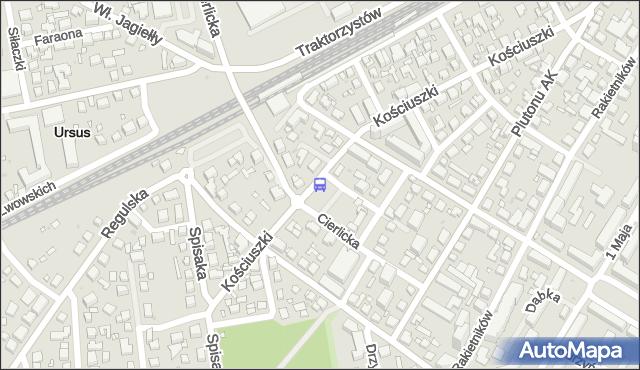 Przystanek PKP Ursus 05. ZTM Warszawa - Warszawa (id 421705) na mapie Targeo