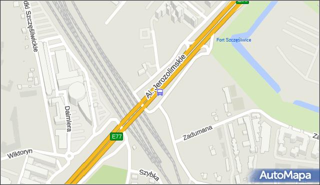 Przystanek PKP WKD Al.Jerozolimskie 01. ZTM Warszawa - Warszawa (id 404701) na mapie Targeo