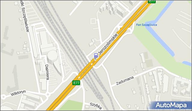Przystanek PKP WKD Al.Jerozolimskie 02. ZTM Warszawa - Warszawa (id 404702) na mapie Targeo