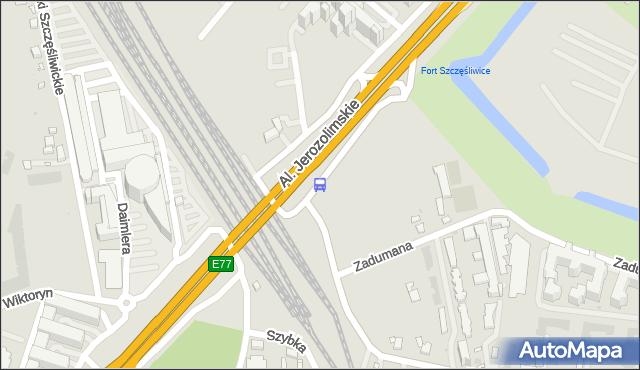 Przystanek PKP WKD Al.Jerozolimskie 03. ZTM Warszawa - Warszawa (id 404703) na mapie Targeo
