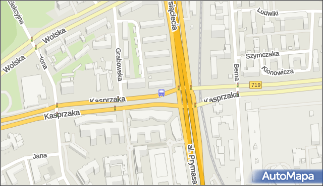 Przystanek PKP Wola (Kasprzaka) 02. ZTM Warszawa - Warszawa (id 504302) na mapie Targeo