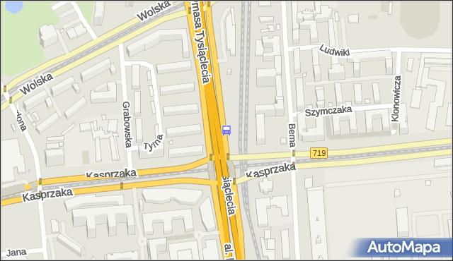 Przystanek PKP Wola (Kasprzaka) 06. ZTM Warszawa - Warszawa (id 504306) na mapie Targeo