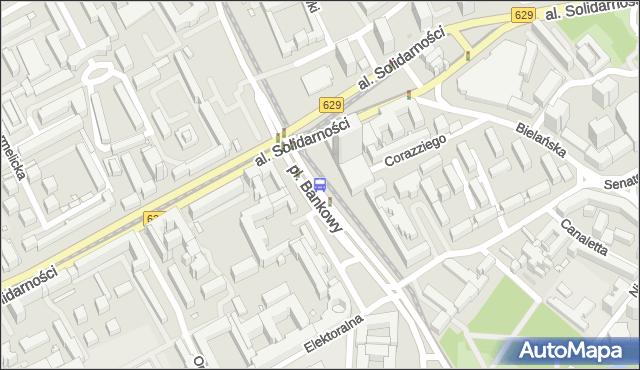 Przystanek pl.Bankowy 02. ZTM Warszawa - Warszawa (id 701602) na mapie Targeo
