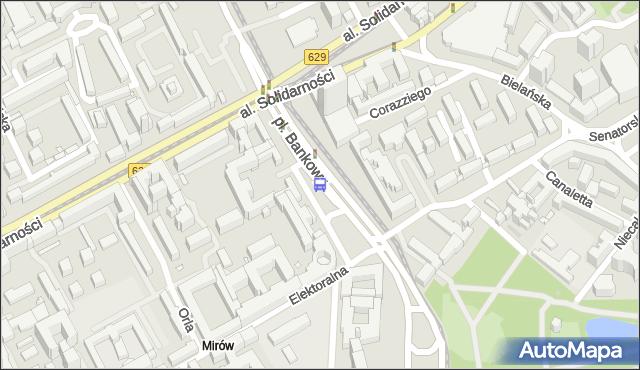 Przystanek pl.Bankowy 03. ZTM Warszawa - Warszawa (id 701603) na mapie Targeo