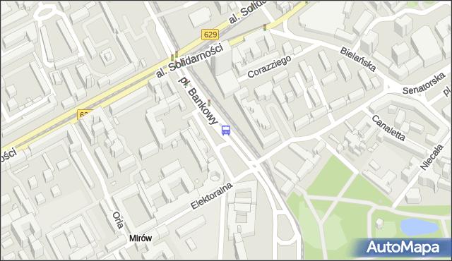 Przystanek pl.Bankowy 04. ZTM Warszawa - Warszawa (id 701604) na mapie Targeo