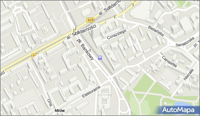 Przystanek pl.Bankowy 08. ZTM Warszawa - Warszawa (id 701608) na mapie Targeo