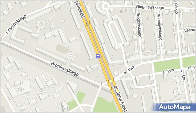 Przystanek pl.Grunwaldzki 01. ZTM Warszawa - Warszawa (id 603901) na mapie Targeo