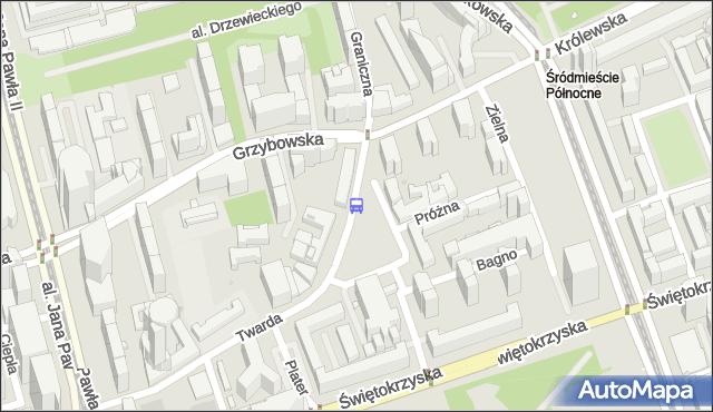 Przystanek pl.Grzybowski 01. ZTM Warszawa - Warszawa (id 702501) na mapie Targeo