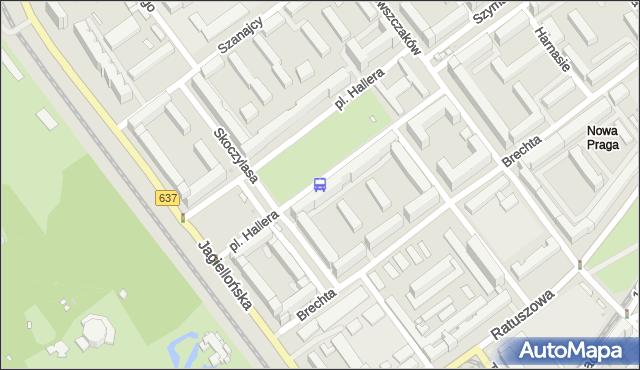 Przystanek pl.Hallera 06. ZTM Warszawa - Warszawa (id 100506) na mapie Targeo