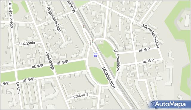 Przystanek pl.Inwalidów 01. ZTM Warszawa - Warszawa (id 600201) na mapie Targeo