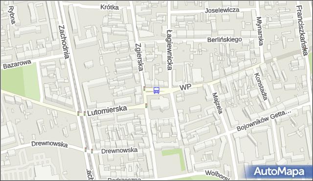Przystanek pl. Kościelny. MPKLodz - Łódź (id 792) na mapie Targeo