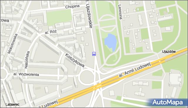 Przystanek pl.Na Rozdrożu 01. ZTM Warszawa - Warszawa (id 703701) na mapie Targeo