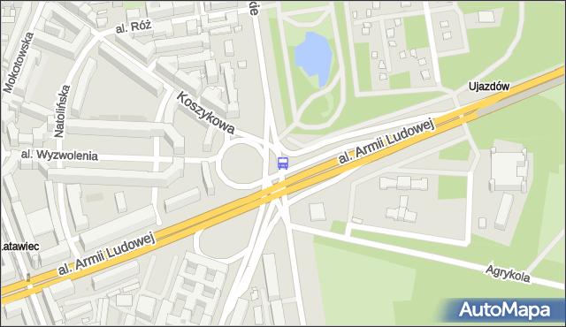 Przystanek pl.Na Rozdrożu 02. ZTM Warszawa - Warszawa (id 703702) na mapie Targeo