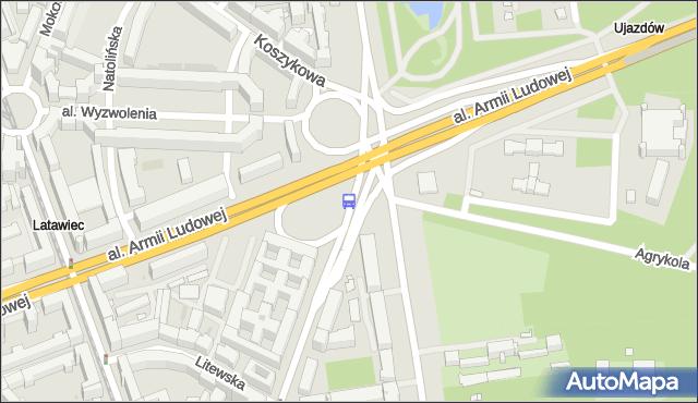 Przystanek pl.Na Rozdrożu 03. ZTM Warszawa - Warszawa (id 703703) na mapie Targeo
