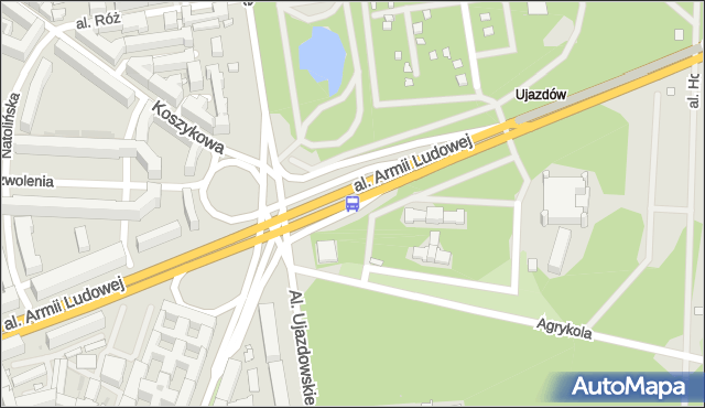 Przystanek pl.Na Rozdrożu 05. ZTM Warszawa - Warszawa (id 703705) na mapie Targeo