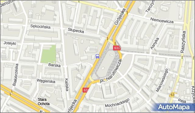 Przystanek pl.Narutowicza 02. ZTM Warszawa - Warszawa (id 400302) na mapie Targeo