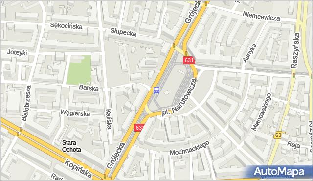 Przystanek pl.Narutowicza 07. ZTM Warszawa - Warszawa (id 400307) na mapie Targeo