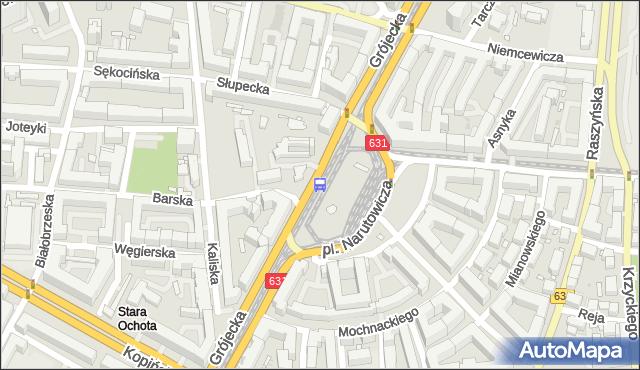 Przystanek pl.Narutowicza 08. ZTM Warszawa - Warszawa (id 400308) na mapie Targeo