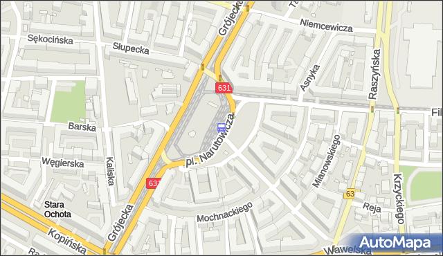 Przystanek pl.Narutowicza 09. ZTM Warszawa - Warszawa (id 400309) na mapie Targeo