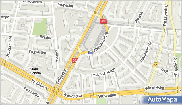 Przystanek pl.Narutowicza 15. ZTM Warszawa - Warszawa (id 400315) na mapie Targeo