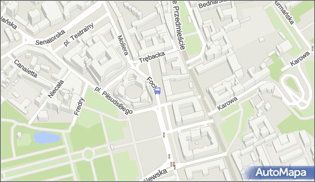 Przystanek pl.Piłsudskiego 02. ZTM Warszawa - Warszawa (id 702702) na mapie Targeo